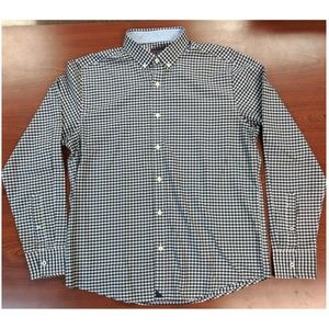 Untuckit Mens Navy and White Gingham Button Down